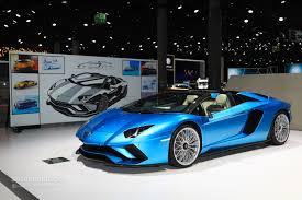lamborghini aventador s roadster parades blu aegir color in