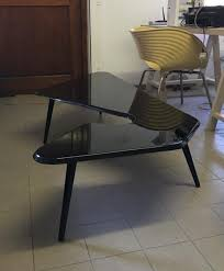 black lacquered coffee table 1950s the new modernist