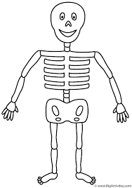 skeleton coloring page halloween