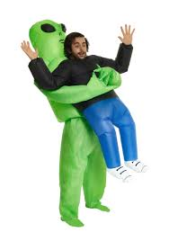 Alien Halloween Costume Pick Me Up Alien Inflatable Costume For Adults