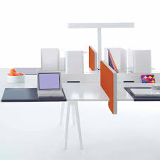 Workstation Desk Oak Contemporary Commercial Joyn Vitra