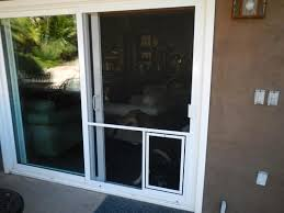 Patio Door With Pet Door Built In Sliding Screen Door Saudireiki