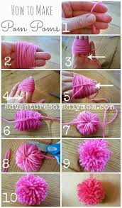 How To Make A Rug Out Of Plastic Bags How To Make Pom Poms From Yarn Pom Poms Yarns And How To Make