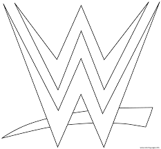 wwe logo coloring page coloring pages printable