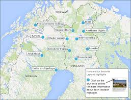 northern lights location map where to go in lapland make the most of your time