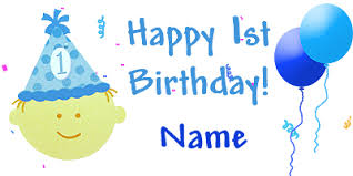 1st birthday boy personalized 1st birthday banners party supplies personalized