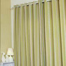 Green Striped Curtains Simple And Modern Striped Curtains In Bud Green Polyester Living