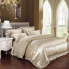 Gold Bed Set 2017 King Size 4 6pcs Luxury Bed Linen Gold Bedding Set