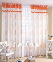 Sheer Curtains Orange Designer Cheap White And Orange Bedroom Curtains Ideas