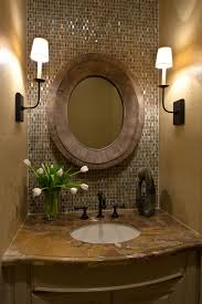 bathroom pedestal sinks ideas artistic blck wall mirror idea designer powder rooms white