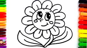 learn colors children coloring pages sun flower
