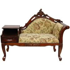 victorian style side table antique victorian style chaise lounge chair with storage and side