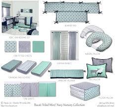 Nursery In A Bag Crib Bedding Set Bacati Noah Tribal Mint Navy 10 Pc Crib Set Including Bumper Pad