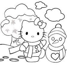 kitty christmas coloring sheets kitty snow angel