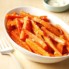 thanksgiving carrot side dish recipe roasted parmesan carrots recipe taste of home