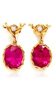 dean harris hoops dean harris handmade tourmaline oval drop earring with 18k