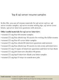 Server Resume Sample by Top 8 Sql Server Resume Samples 1 638 Jpg Cb U003d1432806862