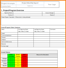 Monthly It Report Template For Management by 7 Monthly Status Report Template Expense Report