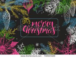 free vintage hand drawn christmas bell with lettering download