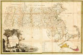 Massachusetts On The Map by 1801 Carleton Map Massachusetts State Maps