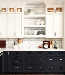 Black Cabinets White Countertops White Shaker Kitchen Cabinets Design Ideas