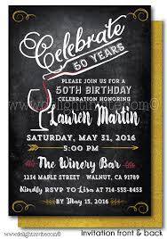 vintage wine 50th birthday invitations di 439fc ministry