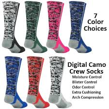 digital camo basketball socks crew length by tck