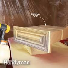 spraying kitchen cabinets how to spray paint kitchen cabinets the family handyman