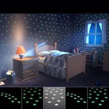 Fivepointed Star Nursery Room Wall Stickers Home Wall Glow In The - Cheap wall stickers for kids rooms