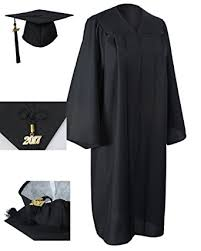 graduation robe graduationforyou matte graduation gown cap tassel 2017 at