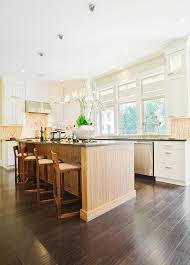 grey kitchen cabinets with brown wood floors 34 kitchens with wood floors pictures home stratosphere