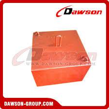 orange concrete sinker for offs platform mooring system