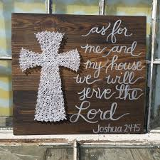 Christian Home Decor Wall Art As For Me And My House We Will Serve The Lord Large String