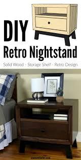 Retro Nightstand Diy Chunky Solid Wood Retro Nightstand