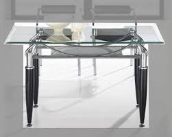 Metal Dining Room Furniture Metal Dining Table W Glass Top Ol Dt17