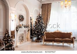 New Year Living Room Decorations by Living Room Large Windows Stock Images Royalty Free Images