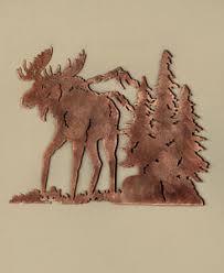 wildlife home decor metal die cut moose silhouette wall art wildlife cabin lodge