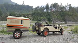 jeep camping trailer camping in the wilderness in a custom camping trailer team bhp
