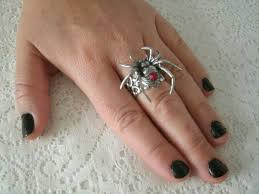 widow wedding ring black widow spider ring wiccan jewelry pagan jewelry wicca