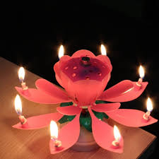 amazing birthday candle 1 pc amazing musical lotus rotating happy birthday candle