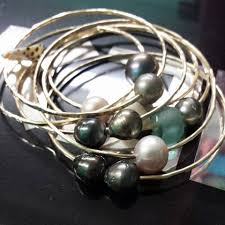 bangle bracelet with pearl images How to make a bangle bracelet with tahitian pearls jpg