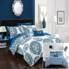Barcelona Duvet Set White And Blue Floral Bedding And Other Beautiful Print Design