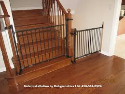 Baby Gate For Top Of Stairs With Banister Baby Gate Option For Mounting With No Holes In The Newell Post