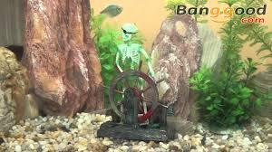 skeleton on the wheel air aquarium decoration ornament