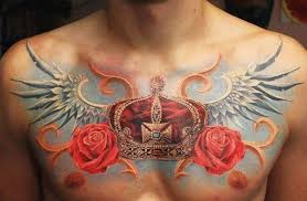 color crown chest for 50 meaningful crown tattoos