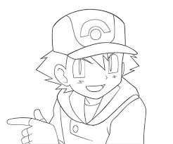 ash pokemon and pikachu best friend forever colouring page happy
