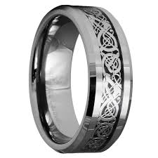mens rings wedding images Tungsten carbide celtic ring mens jewelry wedding band silver size jpg