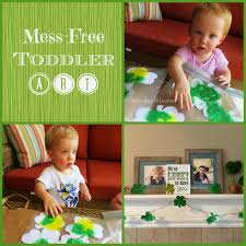mess free toddler st patrick u0027s day art