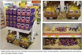 easter egg display retail barcode on pretty creative easter egg display in a