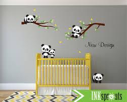 stickers panda chambre bébé panda sticker chambre sticker panda mignon couchage panda